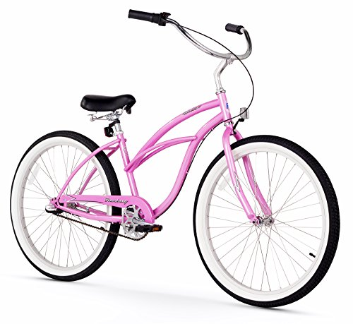 Firmstrong Urban Lady Three Speed Beach Cruiser Bicycle, 26-Inch, Pink