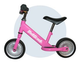 TootScoot II Balance Bike for Kids, Pink