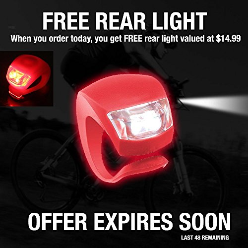 Bike Light – Comes With FREE TAIL LIGHT(Limited Time) – Tools-Free Installation in Seconds – The Best Headlight on Amazon Compatible with: Mountain & Kids & Street Bicycles – Divine LEDs