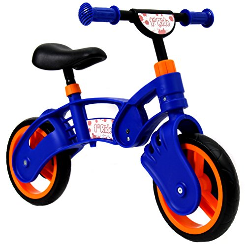 1st Ride Blue Toddler Training No Pedal Balance Bike – 18 months to 3 years