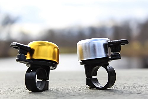 Bicycle Bell Rust Proof Ring Horn Accessories for Mountain Bike BMX Kids Handlebars (H-Gold) …
