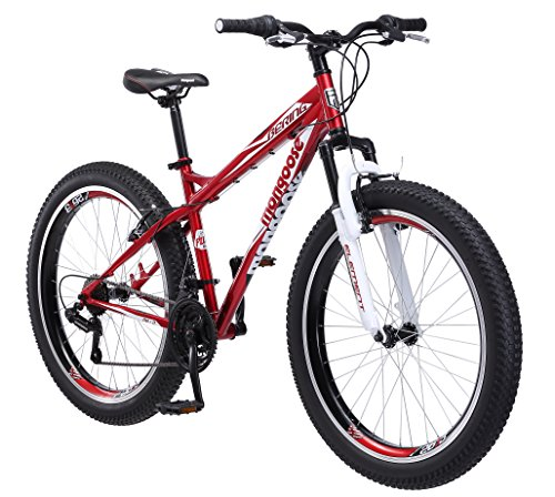 Mongoose Bering 3″ Fat Tire Bicycle 26″ Wheel 18 inch/Medium Frame Size red