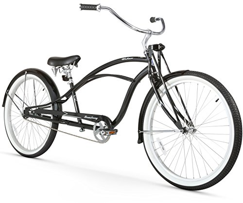 Firmstrong Urban Man Deluxe Single Speed Stretch Beach Cruiser Bicycle, 26-Inch, Black