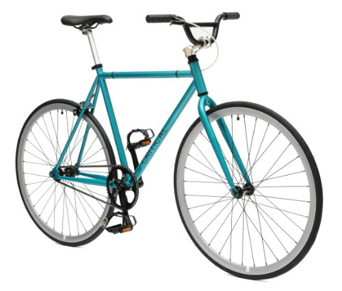 Critical Cycles Fixed Gear Single Speed Fixie Urban Road Bike (Celeste/Silver, Large)
