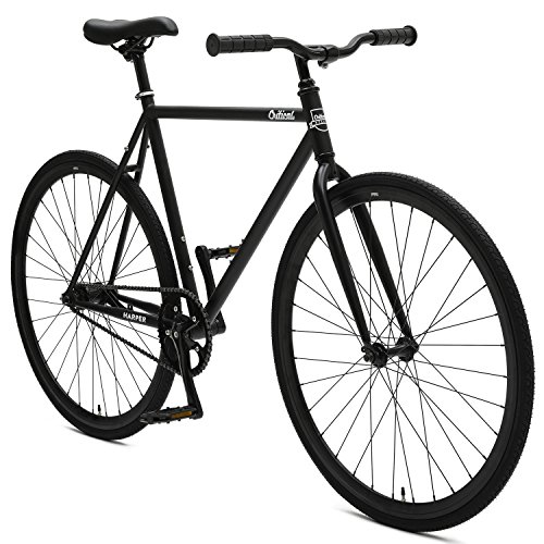 Critical Cycles 2900 Harper Coaster Fixie Style Single-Speed Commuter Bike with Foot Brake, 53cm, m, Matte Black