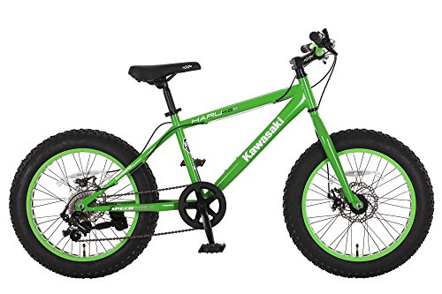 Kawasaki Haru Fat Tire Bike, 20×4 inch wheels, Green