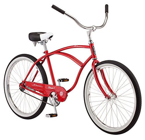 Schwinn Men's Classic 1 26″ Wheel Cruiser Bicycle, Red, 14″/Medium
