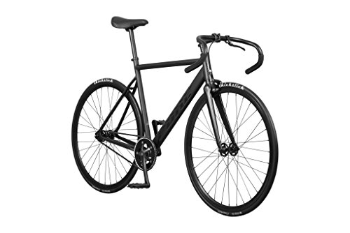 Pure Cycles Keirin Complete Track Bike with Double-Butted 6061 Aluminum Frame, Renzo Matte Black, 49cm