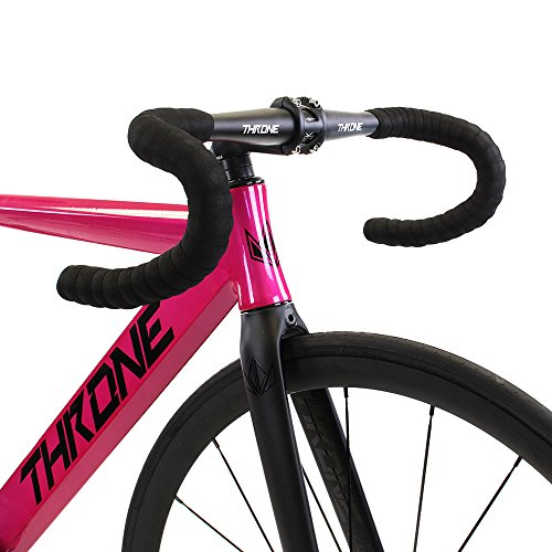 TRKLRD -Throne Cycles Track Lord Completes Alloy 6061 with Carbon Alloy Fork (Pink, 55)