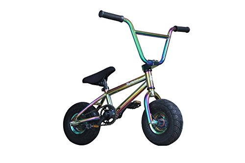 R4 Oil Slick Neo Chrome Complete Pro Mini Bmx Bicycle Trick Jump Freestyle, W/Pegs, USA