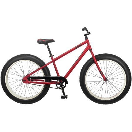 26″ Mongoose Beast Men's Fat Tire Mountain, Red Colour