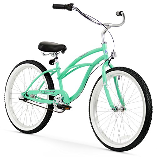 Firmstrong Urban Lady Three Speed Beach Cruiser Bicycle, 24-Inch, Mint Green