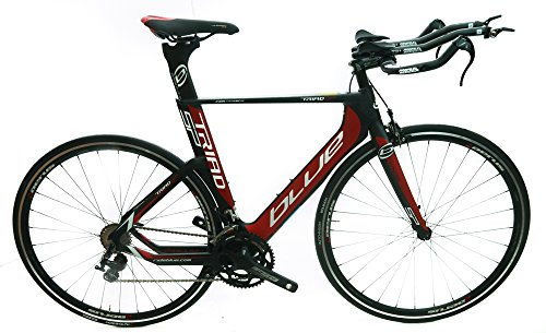 BLUE Triad SP 53.5cm Carbon Time Trial Triathlon Bike Shimano 105 2×11 Speed NEW