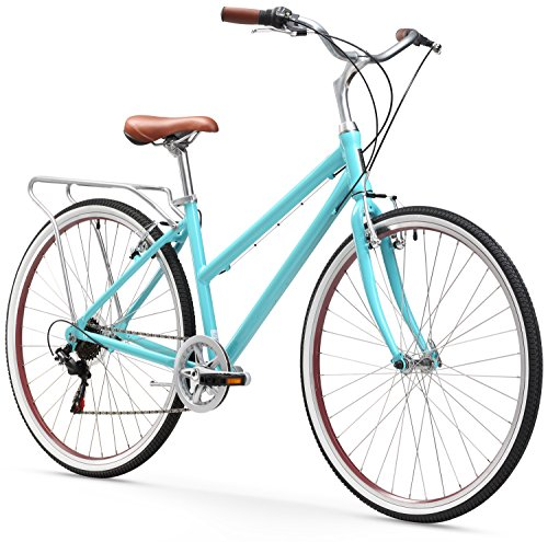 sixthreezero Explore Your Range Women's 7-Speed Hybrid Commuter Bicycle, 17-Inch Frame/700C Wheels, Teal