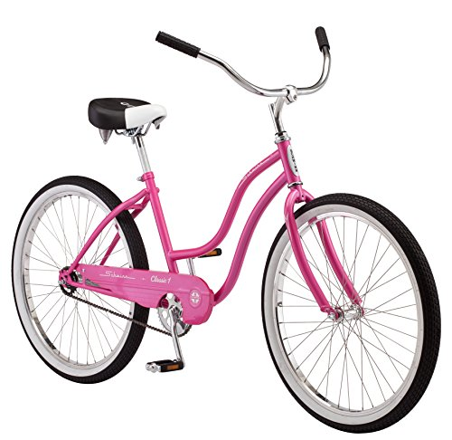 Schwinn Women's Classic 1 26″ Wheel Cruiser Bicycle, Pink, 14″/Small