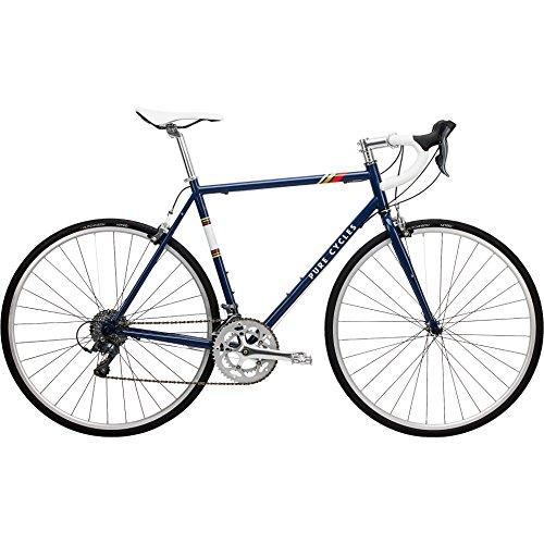Pure Cycles Classic 16-Speed Road Bike, 56cm/Large, Bonette Blue