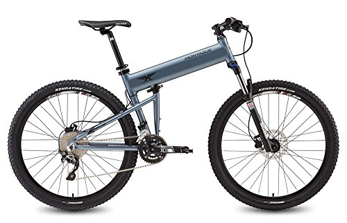 Montague Paratrooper Highline 18″ Matte Grey 20 Speed Folding Mountain Bike