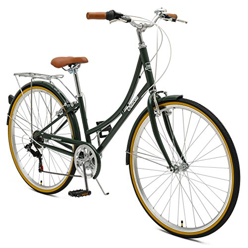 Critical Cycles Beaumont-7 Seven Speed Lady's Urban City Commuter Bike; 38cm, Olive, 38cm/Small