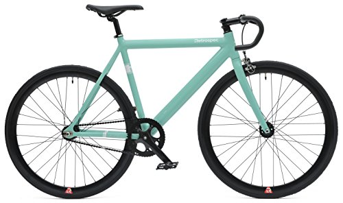 Retrospec Bicycles Drome Track Urban Commuter Bike Fixed-Gear/Single-Speed with Sealed Bearing Hubs, Celeste, 49cm/X-Small