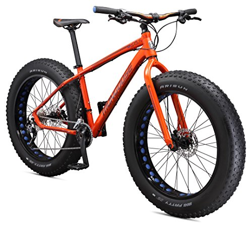 Mongoose Argus Sport Men's 26″ Fat Tire Bicycle, Small Frame Size, Orange