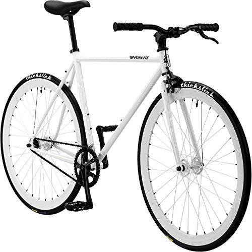 Pure Fix Glow in the Dark Fixed Gear Single Speed Bicycle, Zulu Glow White, 58cm/Large