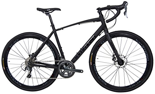 Tommaso Illimitate Shimano Tiagra Gravel Adventure Bike With Disc Brakes And Carbon Fork Perfect For Road Or Dirt Trail Touring, Matte Black – Small