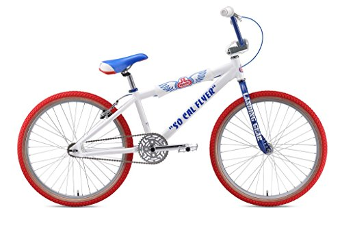 SE Bikes So Cal Flyer Bicycle, 24″, White/Blue