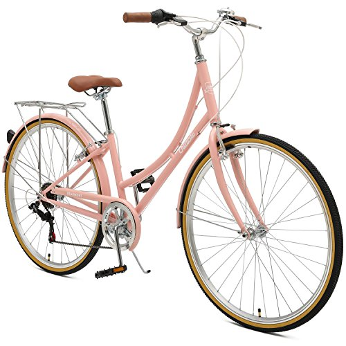 Critical Cycles Beaumont-7 Seven Speed Lady's Urban City Commuter Bike; 38cm, Blush Pink, 38cm/Small