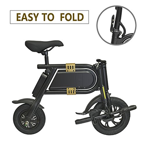 Kingsports Foldable Electric Bicycle with 10 Mile Range, Collapsible Frame and Handlebar Display