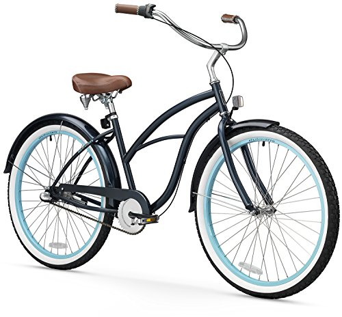 sixthreezero Women's 3-Speed 26-Inch Beach Cruiser Bicycle, Classic Dark Blue