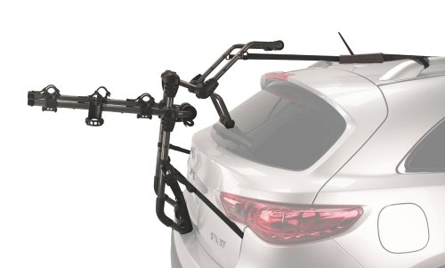 Hollywood Racks – 3-Bike Over-The-Top Trunk Mounted Rack, Trunk Bike Rack for Cars with Spoilers