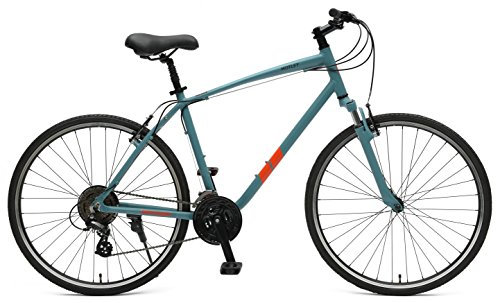 Retrospec Bicycles Motley Hybrid Bike 21 Speed, Pewter, 16″/Small