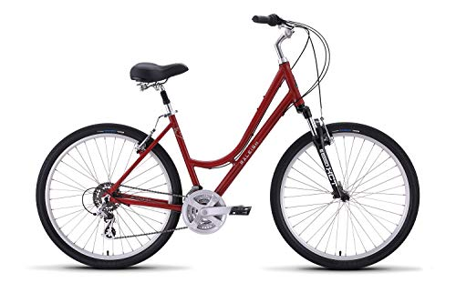 Venture 2 Step Thru Comfort Bike, 15″/SM Frame, Red