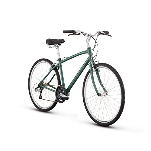 RALEIGH Bikes Detour 1 Comfort Hybrid Bike, Green, 21″/X-Large