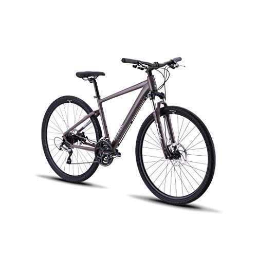Raleigh Bikes Route 2 Hybrid Bike with 700C Wheels, 20″, Brown, 20″/Large
