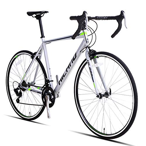 Hiland Road Bike,700C 54 cm Frame City Commuter Bicycle with 14 Speeds Drivetrain,Silver