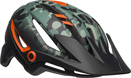 Bell Sixer MIPS Adult MTB Bike Helmet (Oak Matte Black/Green/Orange (2019), Large)