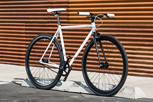 Ghoul Core-Line State Bicycle | Fixie Single Sped Fixed Gear Bike – Ghoul (White & Black) Medium (54 cm)