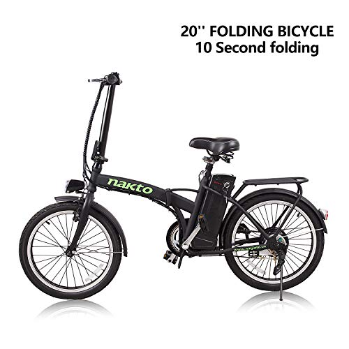 NAKTO Folding Electric Bicycle Lightweight and Aluminum Folding EBike,Electric Bicycles for Adults …