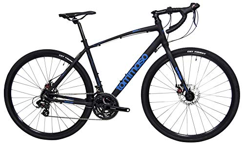 Tommaso-Siena-Shimano-Tourney-Gravel-Adventure-Bike-with-Disc-Brakes-Extra-Wide-Tires-Perfect-for-Road-Or-Dirt-Touring-Matte-Black