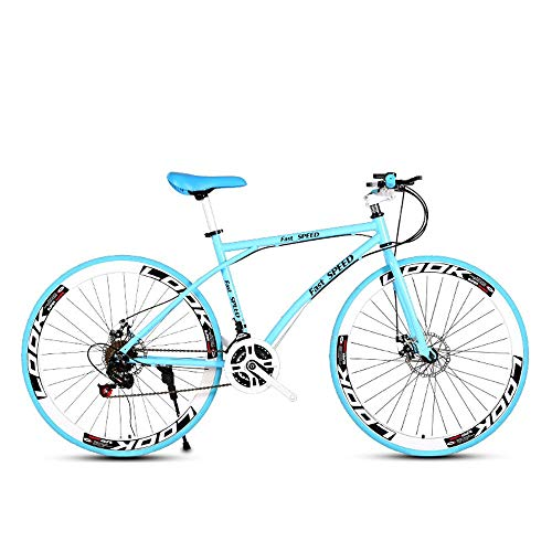 LRHD-Mens-and-Womens-Road-Bicycles-24-Speed-26-inch-Bicycles-Adult-only-High-Carbon-Steel-Frame-Road-Bicycle-Racing-Wheeled-Road-Bicycle-Dual-disc-Brake-Bicycles-Blue