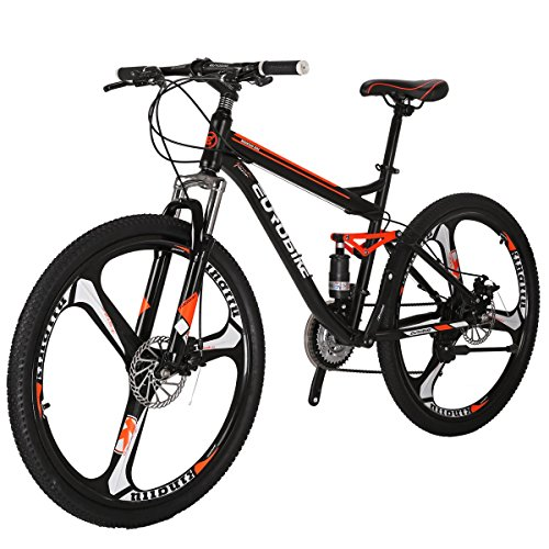 EUROBIKE-Moutain-Bike-S7-Bicycle-21-Speed-MTB-275-Inches-Wheels-Dual-Suspension-Bike