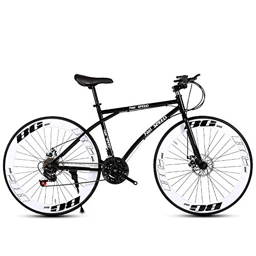 LRHD-Road-Bike-for-Men-and-WomenBicycle-24-Speed-26-inch-Bicycle-Adult-only-High-Carbon-Steel-Frame-Road-Bicycle-Double-Disc-Brake-Racing-CarWheels-Road-Bicycle-Dual-Disc-Brake-Bicycle